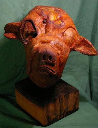 John Adamson - Wood Sculptor: Boxer01