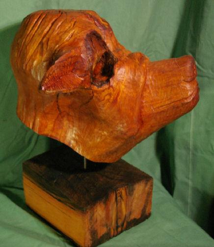 John Adamson - Wood Sculptor: Boxer02
