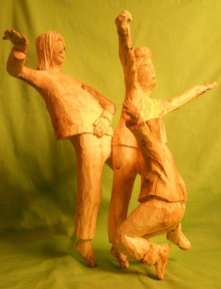 John Adamson - Wood Sculptor: Break Dancing01