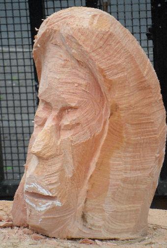 John Adamson - Wood Sculptor: Clitheroe Head01