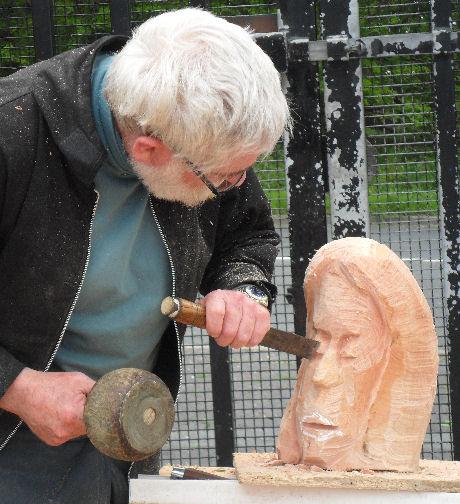 John Adamson - Wood Sculptor: Clitheroe Head03