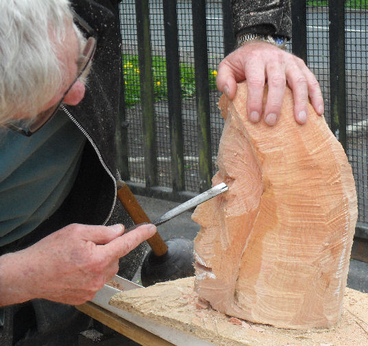 John Adamson - Wood Sculptor: Clitheroe Head04