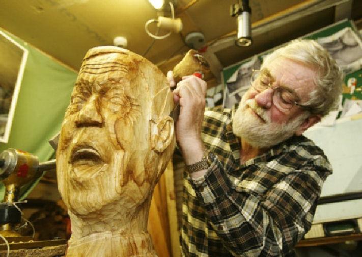 John Adamson - Wood Sculptor: Drowning01
