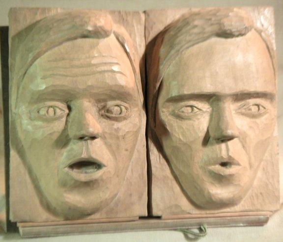 John Adamson - Wood Sculptor: Clitheroe Faces01