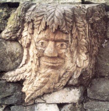 John Adamson - Wood Sculptor: Green Man01