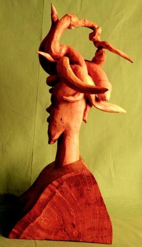 John Adamson - Wood Sculptor: Medusa01