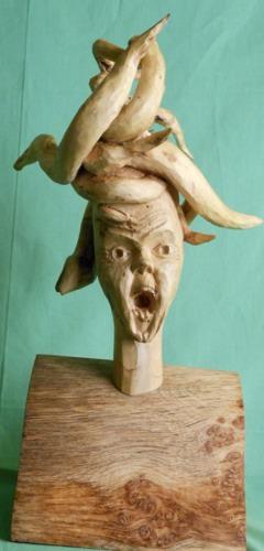 John Adamson - Wood Sculptor: Medusa03