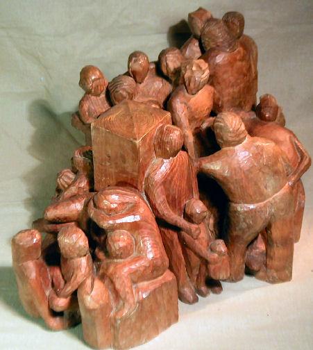 John Adamson - Wood Sculptor: Waiting03