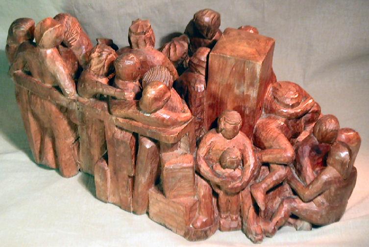 John Adamson - Wood Sculptor: Waiting04