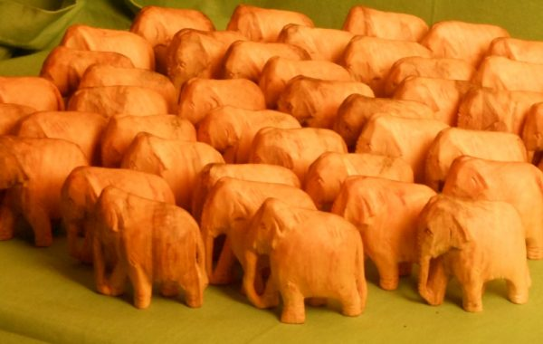 50 Carved Elephants